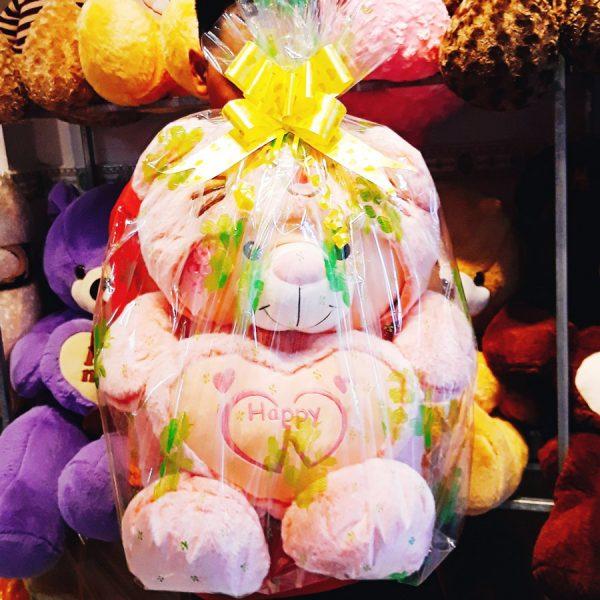 Gói quà giấy kính hoa, thắt nơ miễn phí tại Shop Gấu Ú Nu - Gấu bông Cần Thơ