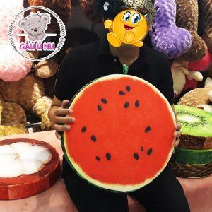 Gối trái cây 3D hình Trái Dưa Hấu